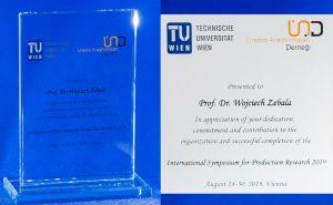 Wyróżnienie dla prof. dr hab inż. Wojciecha Zębali