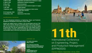 11th International Conference on Engineering, Project, and Production Management (EPPM2020).