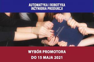 Przypomnienie – wybór promotora do 15.05