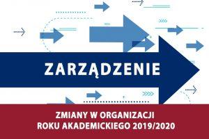Zmiany w organizacji roku akademickiego 2019/2020