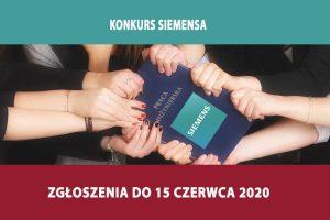 Konkurs Siemensa – prace dyplomowe – zgłoszenia do 15 czerwca 2020