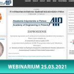 IV webinarium techniczne Akademii Inżynierskiej w Polsce