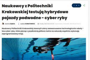 Prezentacja prac pracowników Katedry i studentów kierunku automatyka i robotyka w Radio Kraków