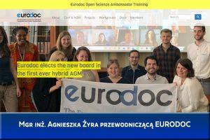 Doktorantka Wydziału Mechanicznego została przewodniczącą EURODOC
